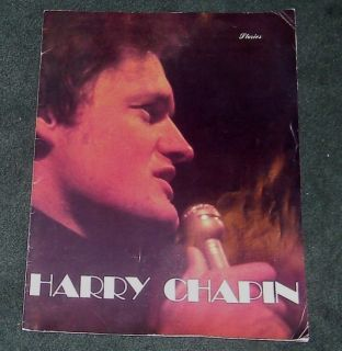HARRY CHAPIN   SIGNED 1978 concert tour souvenir book   Stories