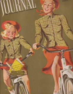 1939 Ladies Home Journal October Bicycles Helen Hayes