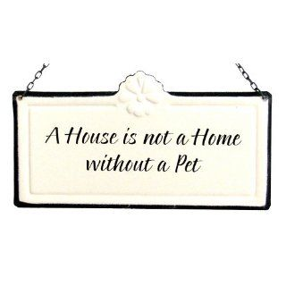America Retold White Enamel Sign, House is Not a Home