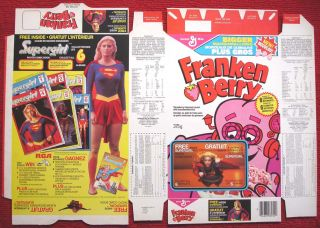 Cereal Box Supergirl MOVIE Helen Slater 1984 DC Comic Book