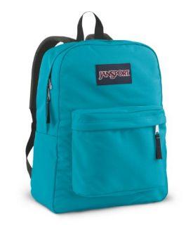 JanSport Superbreak School Backpack (Blinded Blue) Sports