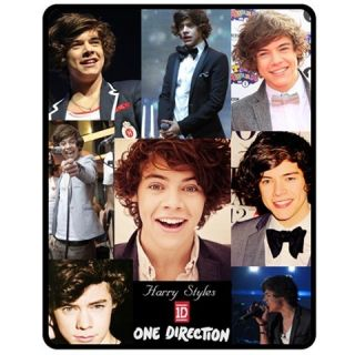 1D One Direction Harry Styles Throw Fleece Blanket 50X60