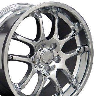 G35 Sedan 10 Spoke Wheel Fits Infinti   Chrome 18x8/18x9 Set of 4