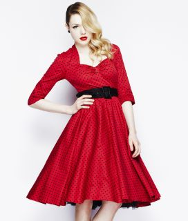 Hell Bunny 50s Rockabilly Momo Vintage Swing Dress Red