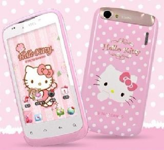 OT 979 Pink White HELLO KITTY Android3G Camera Smart Gril Cell Phone