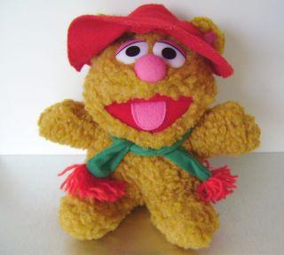 Jim Hensons Muppets 1987 Baby Fozzie Bear 8 Plush Stuffed Animal Toy
