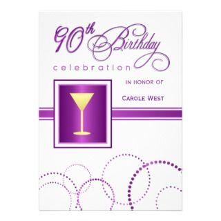 90.o Invitaciones de la fiesta de cumpleaños   con Anuncio de