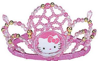 Hello Kitty Party Supplies Beaded Beaded Tiara 5 x 3 1 2 x 6