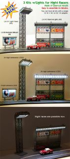 SLOT CAR BUILDINGS TO ILLUMINATE NIGHT RACES OF SCALEXTRIC, NINCO