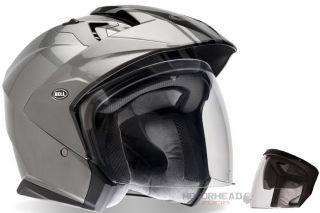 Bell Helmet Mag 9 Titanium Rally Helmet Open Face Medium w Sun Visor