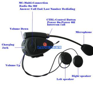 Rider Bluetooth Motorcycle Helmet Headset Intercom New