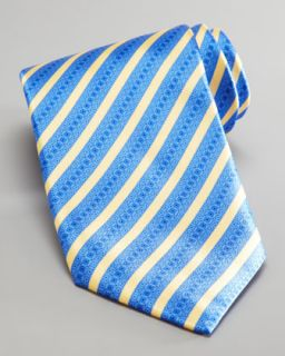Stefano Ricci Mixed Stripe Silk Tie, Blue/Yellow   Neiman Marcus