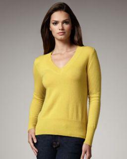 V Neck Cashmere Sweater, Womens