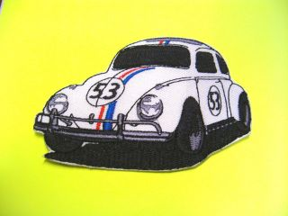 PATCH Herbie The Love Bug 53 Fully Loaded Promotional Patch VW Beetle
