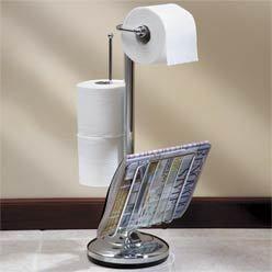 Chrome Plated Toilet Paper Tissue Holder Magazine Rack