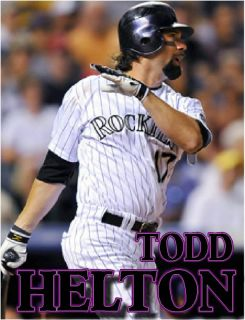 Todd Helton Colorado Rockies Baseball MLB Glossy Shirt