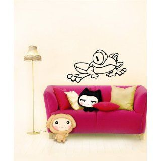Wall Vinyl Sticker Decal Mural Funny Cartoon Frog Animal
