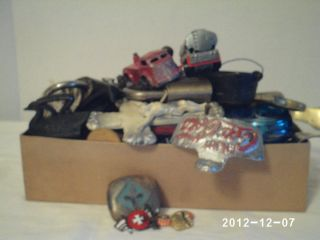 Large junk drawer lot dice army pins vintage bottle openers knife MORE