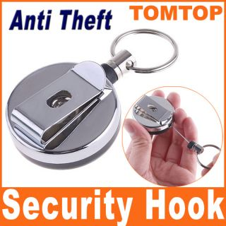 Mini Anti Theft Device Security Hook Buckle for Wallet Cell Phone