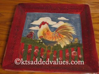Homestead is a new pattern by Susan Winget. 13½ In. Square Platter