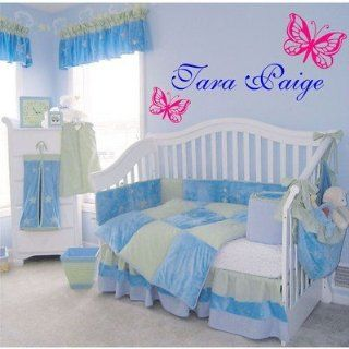 Personalized Childs Name With Butterflies Wall Decal Kids