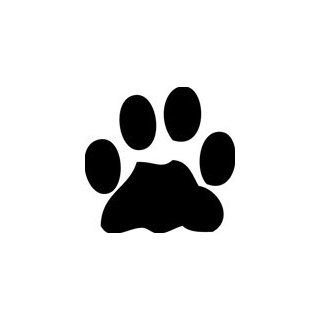 Dog Paw Print Decal, Choose Size great for wall or car