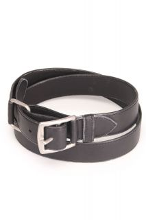 Hermes Size 31 Ladies Square Buckle Belt in Black 3 Hole Leather