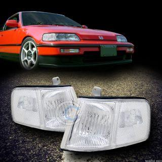 Lens Turn Signal Parking Corner Lights Lamps 90 91 Honda CRX