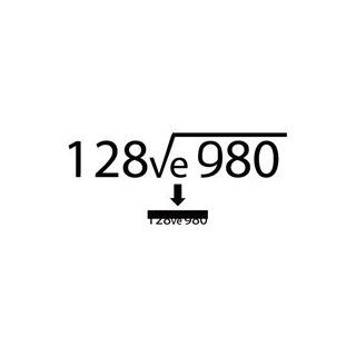 Love You Hint Math Equation   Message Decal Vinyl Car Wall