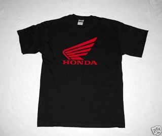 Black Honda T Shirt Motorcycle CBR Wing CRF 1000 600