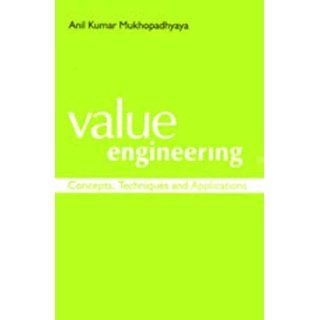 Value Engineering (Response Books) Anil Kumar Mukhopadhyaya
