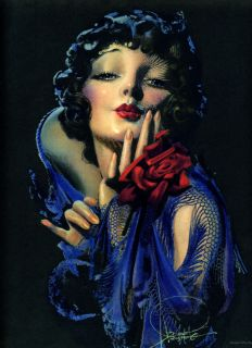 ROLF ARMSTRONG 1930s ANTIQUE ART DECO FLAPPER GIRL PIN UP PRINT
