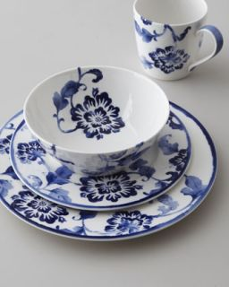 island floral dinnerware place setting available in blue white $ 70 00