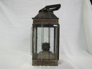 Antique Hinks Lantern Huge Rusted Kerosene Lantern Great for The