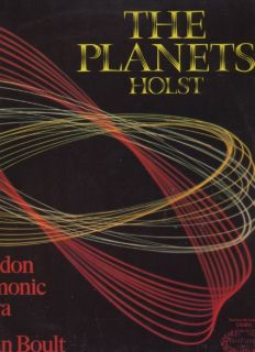 The Planets Holst London Philharmonic Orchestra UK Vinyl LP Adrian