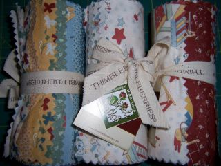 18pc RJR Fabric ~ PLAY DATE ~ Thimbleberries Fabric Jelly Roll