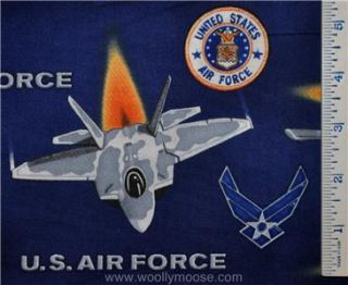 Robert Kaufman United We Stand U s Air Force Fabric