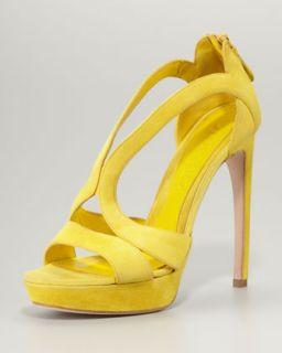 Taryn Rose Low Heel Cutout Sandal