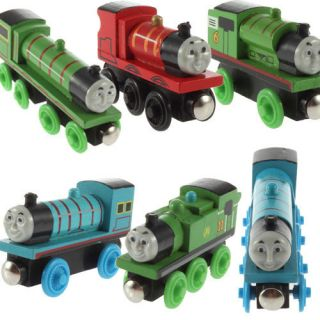 Wooden Child Toy Henry Thomas Friends Train Engine with 2 3 4 Wheels