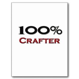 100 Percent Crafter Postcard