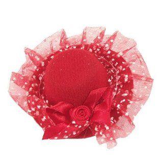Rosallini Ladies Wedding Party Red Flower Decor Mini Top