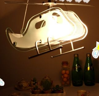 Fun Child Helicopter Pendant Ceiling Light Kids Room AU