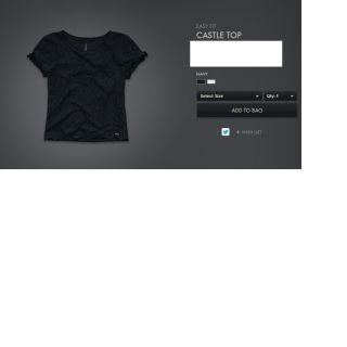 Gilly Hicks Castle Top Navy by Abercrombie Hollister Fashion Top Shirt