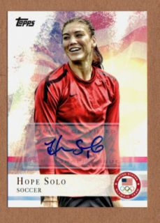 HOPE SOLO 2012 TOPPS OLYMPIC TEAM SET AUTO WOMENS SOCCER GOLD