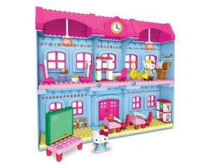 With more than 75 pieces, the Hello Kitty Schoolhouse is an ideal