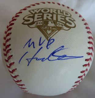 Hideki Matsui Signed 2009 World Series Baseball with MVP Inscription