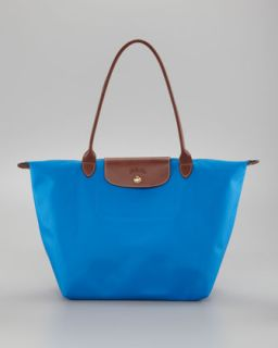 V1E9D Longchamp Le Pliage Large Shoulder Tote Bag, Ultramarine