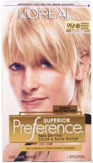 LOreal Superior Preference 9 1 2NB Lightest Natural Blonde Natural