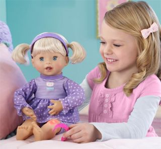 Two setting power switch lets My Very Real Baby Doll speak 150 words