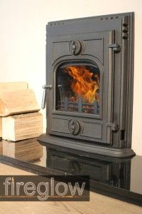 450 Multifuel Wood Burning Cast Iron Insert Stove Fireplace